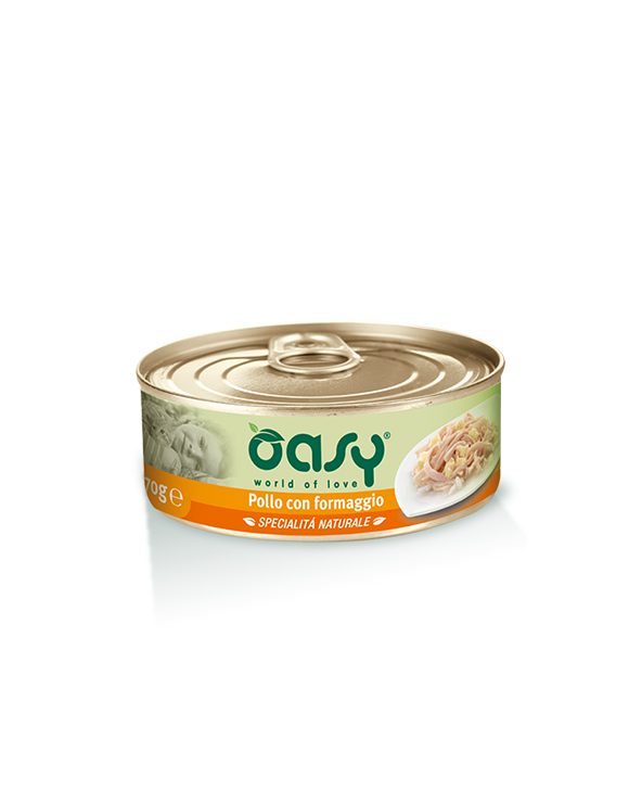 Oasy Cat Specialità Naturali Pollo con Formaggio Lattina 150 g
