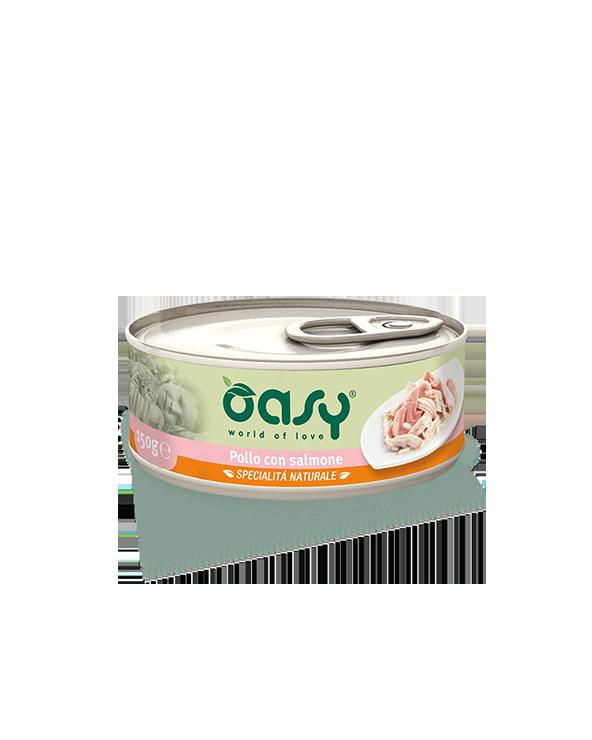 Oasy Cat Specialità Naturali Pollo con Salmone Lattina 150g