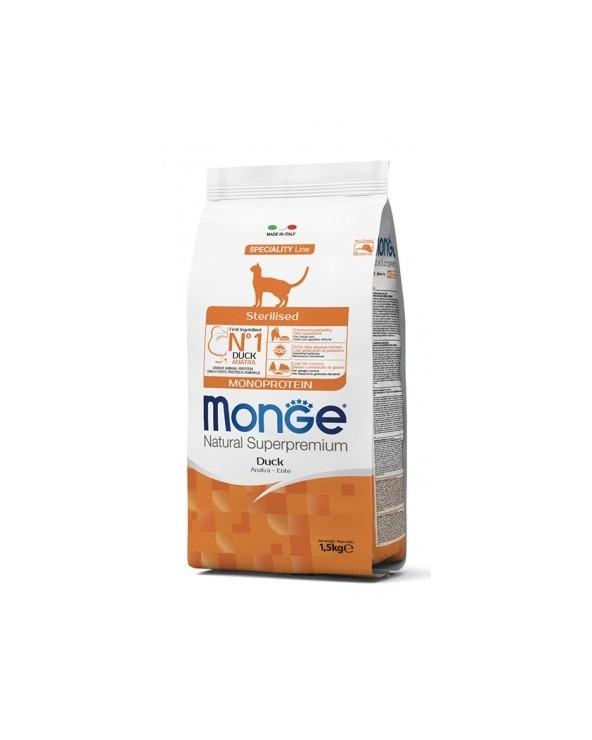 Monge Cat Sterilised Monoproteico Anatra 1,5kg