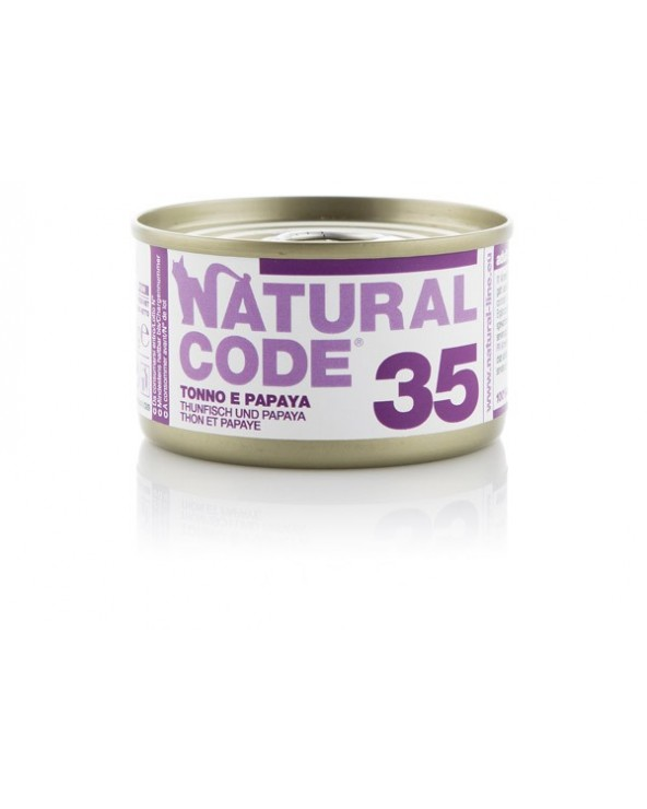 Natural Code Adult Cat 35 Tonno e Papaya 85g
