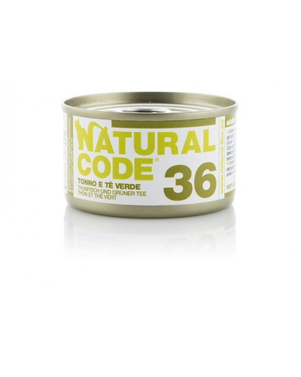 Natural Code Cat Adult 36 Tonno e Tè Verde 85g