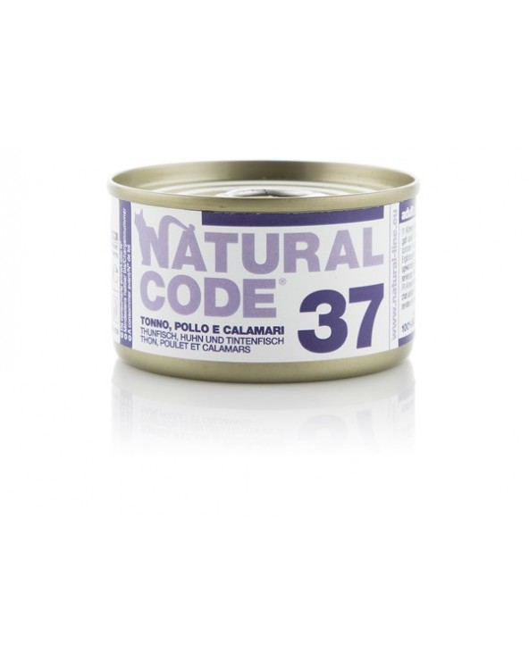 Natural Code Cat Adult 37 Tonno Pollo e Calamari 85 g