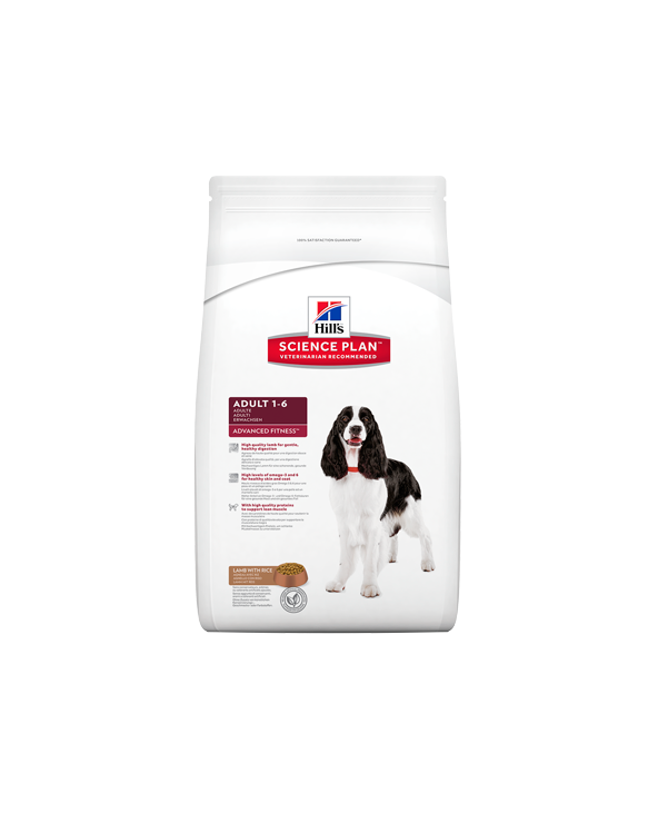 Hill's Canine Science Plan Advanced Fitness Adult Medium Agnello e Riso 12 kg