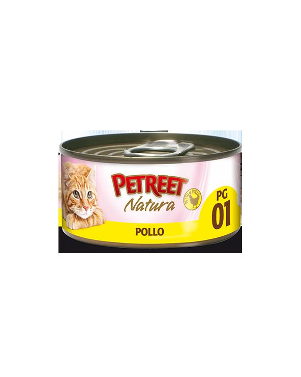 Petreet Natura Pollo in Gelatina 70 gr PG1