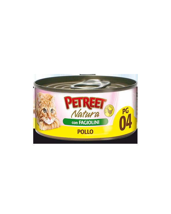 Petreet Natura Pollo in Gelatina con Fagiolini 70 gr PG4