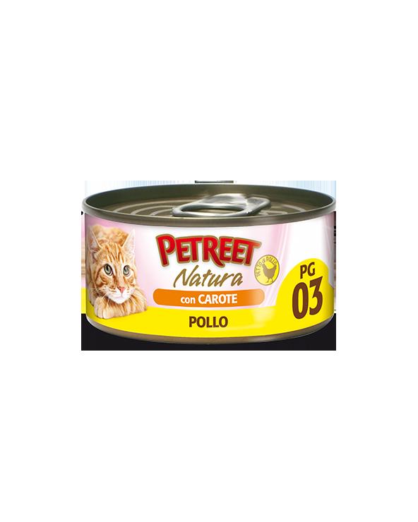 Petreet Natura Pollo in Gelatina con Carote 70 gr PG3