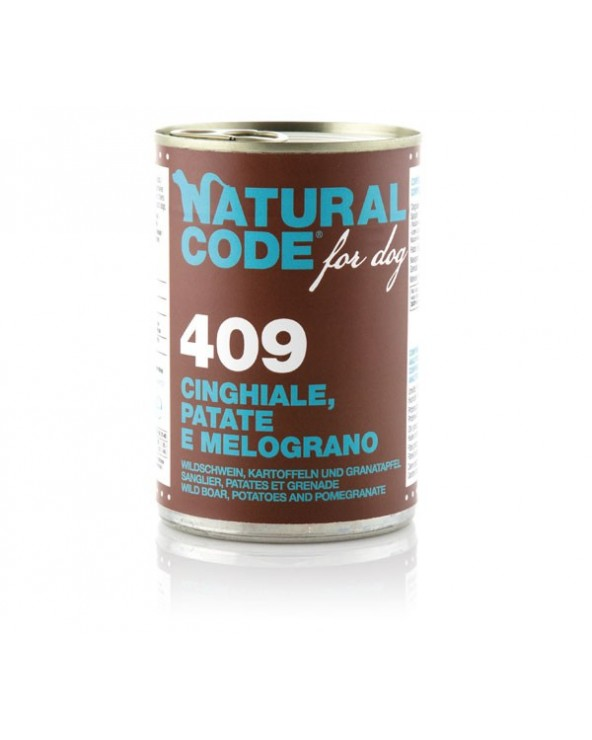 Natural Code Dog Patè 409 Cinghiale Patate e Melograno 400 g