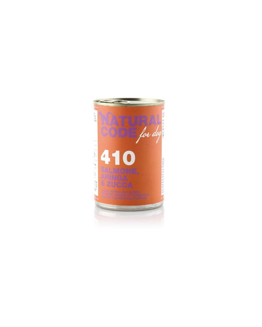Natural Code Dog Patè 410 Salmone Aringa e Zucca 400 g