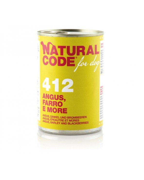 Natural Code Dog Patè 412 Angus Farro e More 400 g