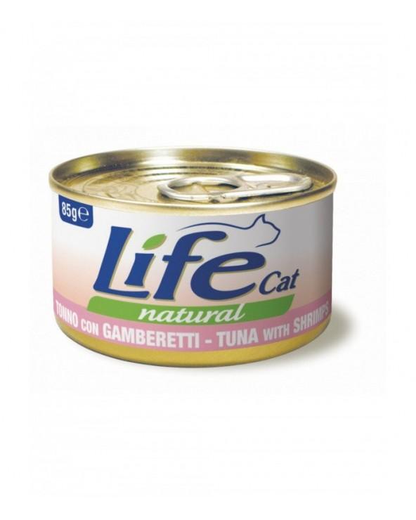 Life Cat Natural Tonno con Gamberetti 85 g