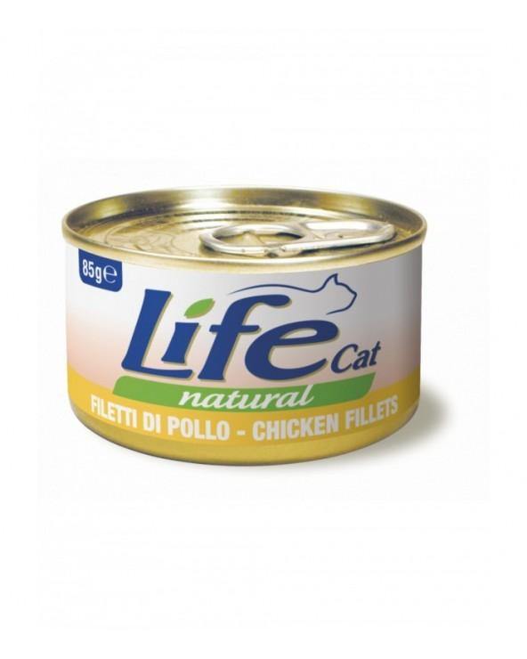 Life Cat Natural Filetti di Pollo 85 g