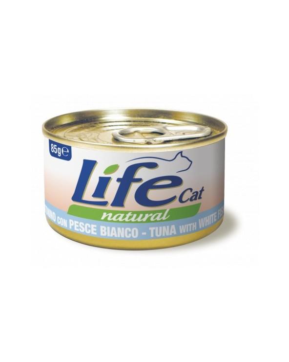 Life Cat Natural Tonno con Pesce Bianco 85 g