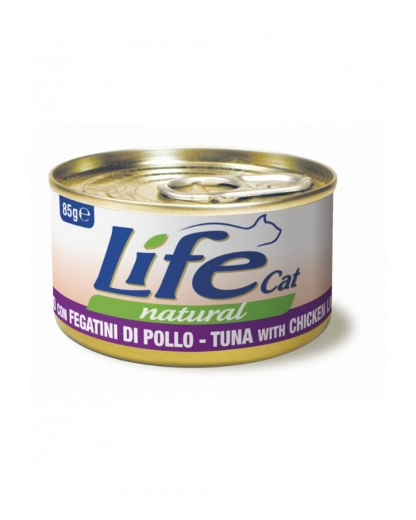 Life Cat Natural Tonno con Fegatini di Pollo 85 g