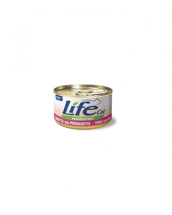 Life Cat Natural Tonnetto con Prosciutto 85 g