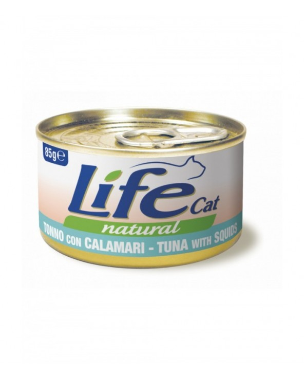 Life Cat Natural Tonno con Calamari 85 g