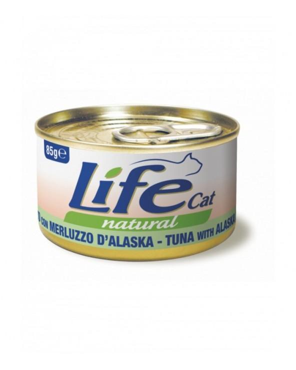 Life Cat Natural Tonnetto con Merluzzo d' Alaska 85 g