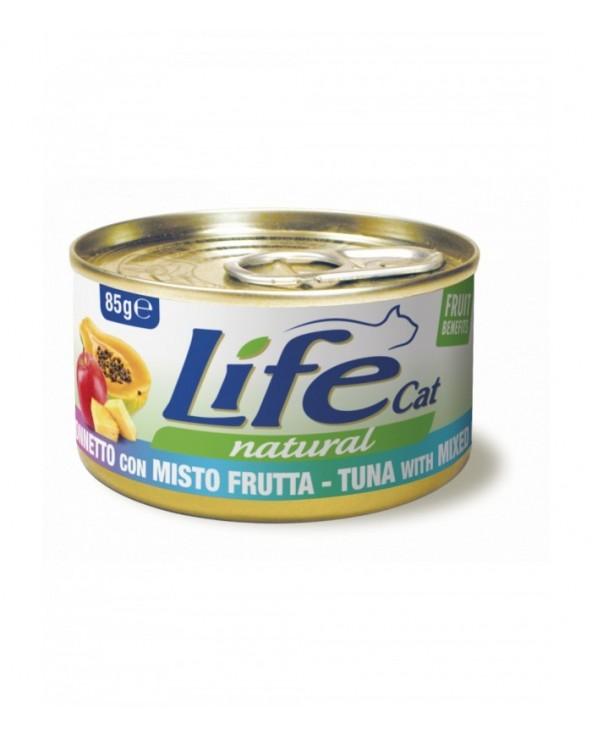 Life Cat Natural Tonnetto con Misto Frutta 85 g