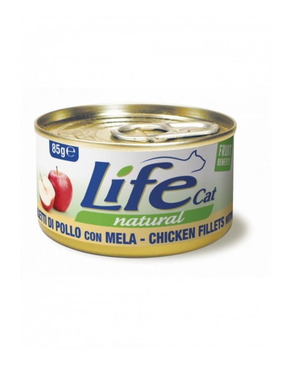 Life Cat Natural Filetti di Pollo con Mela 85 g