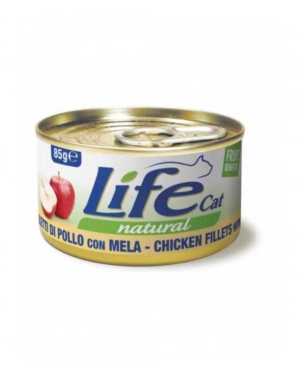 Life Cat Natural Filetti di Pollo con Mela 85 g