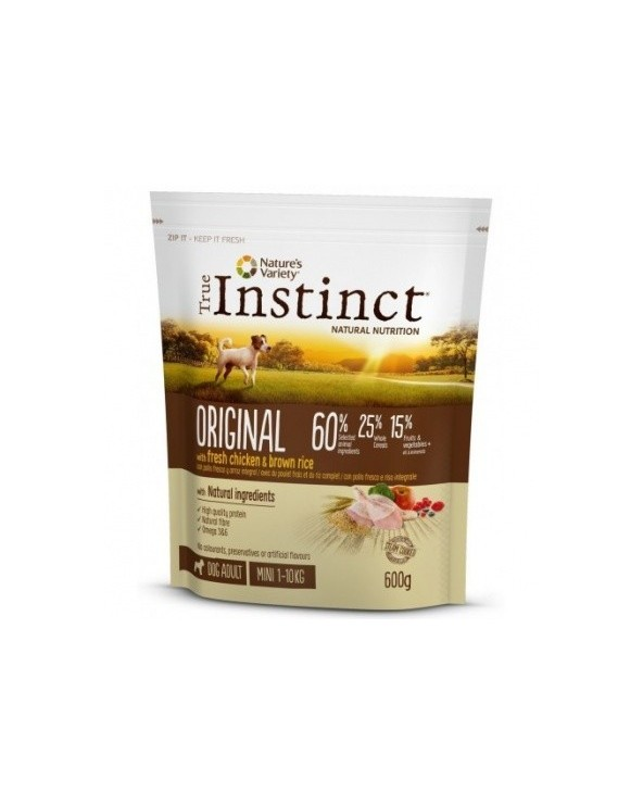 True Instinct Dog Original Adult Mini Pollo Fresco e Riso Integrale 600 g