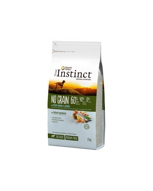 True Instinct Dog NO GRAIN Adult Medium/Maxi Salmone Fresco e Patate 2 kg