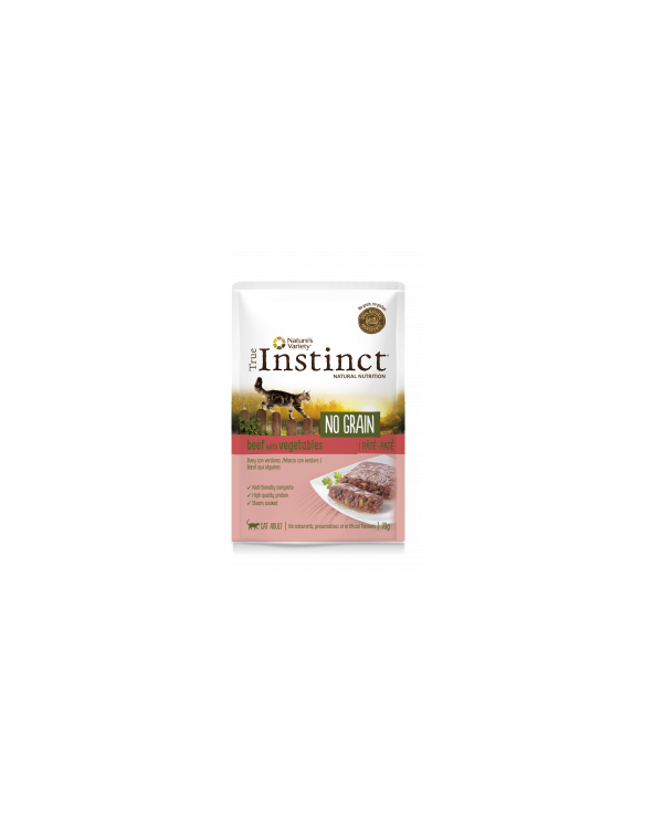 True Instinct Cat NO GRAIN Adult con Manzo e Verdure Bustine in Patè 85 g