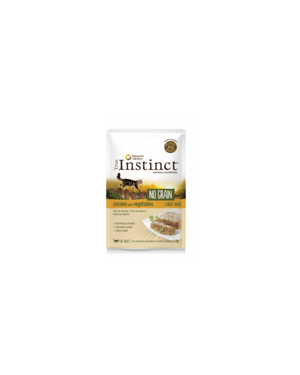 True Instinct Cat NO GRAIN Adult con Pollo e Verdure Bustine in Patè 70 g