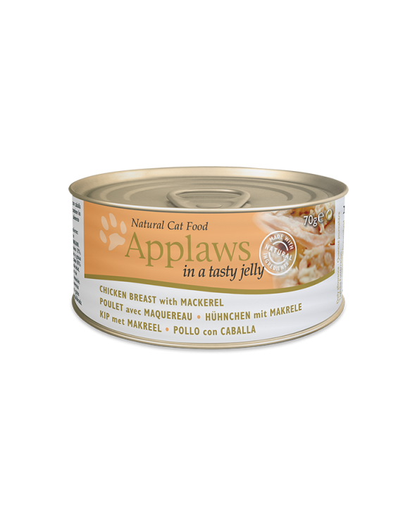 Applaws Lattina Pollo Con Sgombro In Jelly 70g