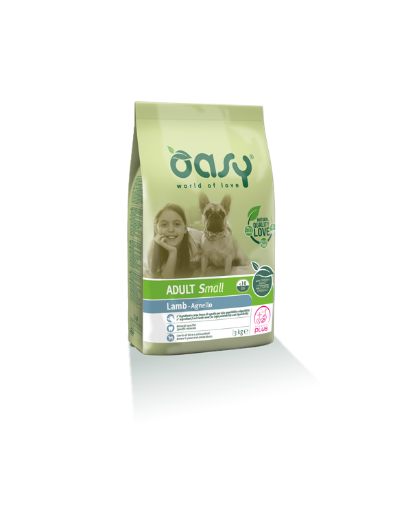 Oasy Dog Adult Small con Agnello 1 kg