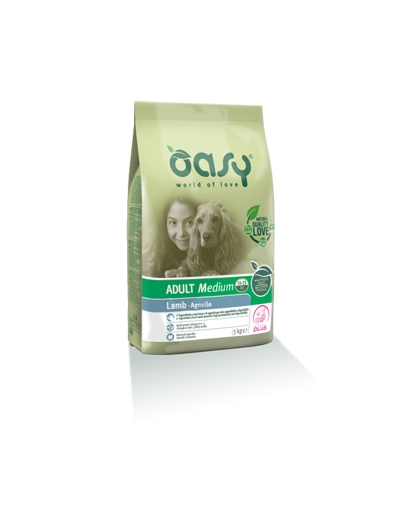 Oasy Dog Adult Medium con Agnello 3 kg
