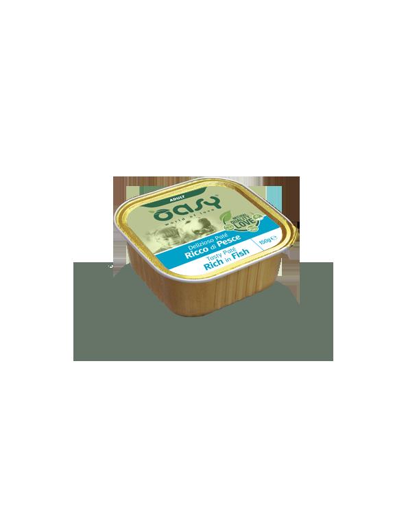 Oasy Dog Delizioso Patè Adult con Pesce Vaschetta 150 g