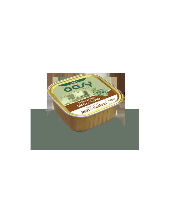 Oasy Dog Delizioso Patè Adult con Cervo Vaschetta 150 g