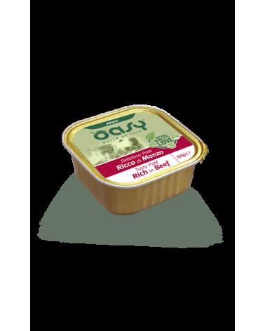 Oasy Dog Delizioso Patè Adult con Manzo Vaschetta 150 g