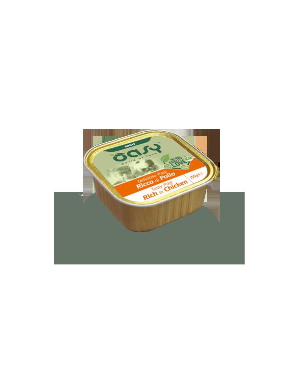 Oasy Dog Delizioso Patè Adult con Pollo Vaschetta 150 g