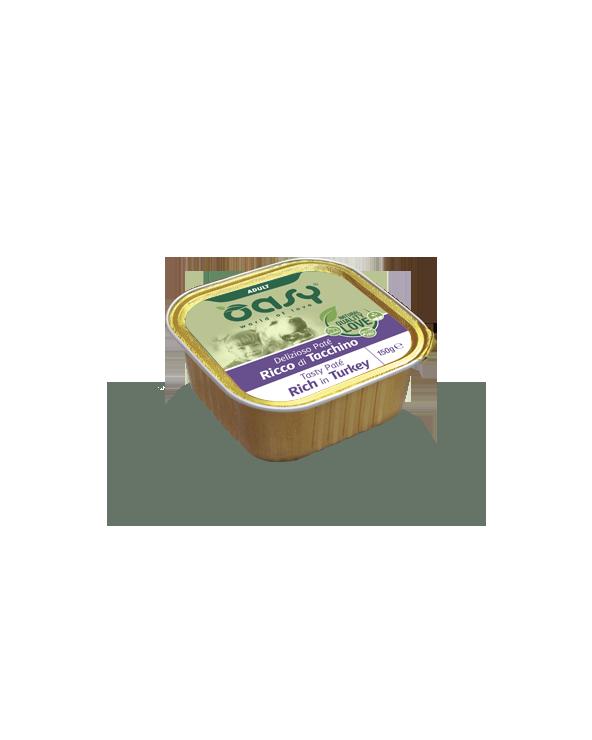 Oasy Dog Delizioso Patè Adult con Tacchino Vaschetta 150 g