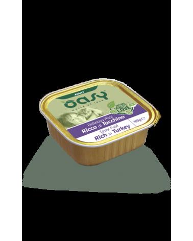 Oasy Cat Delizioso Patè Adult con Tacchino Vaschetta 100 g