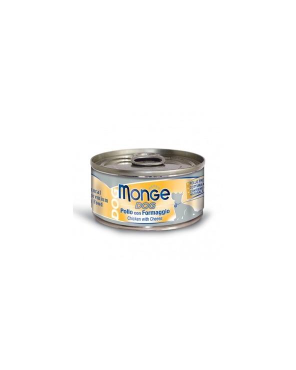 Monge Dog Sfilaccetti al naturale Pollo con Formaggio Lattina 95 g