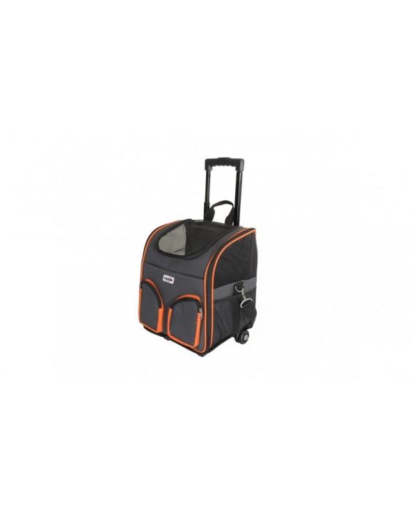 Camon Trasportino Trolley Grigio e Arancio Con Tasche Frontali