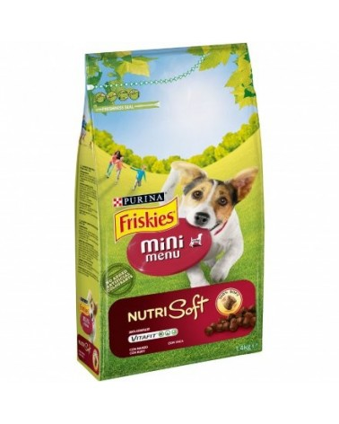 Friskies Dog Nutrisoft Adult Mini con Manzo 1,5 kg