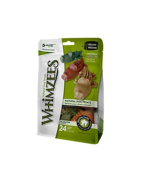 Whimzees Dental Snack Alligatore Small 24 Pz