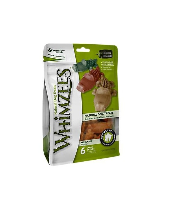 Whimzees Dental Snack Alligatore Large 6 Pz