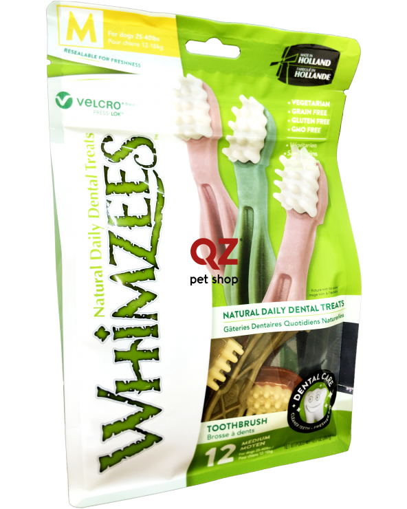 Whimzees Dental Snack Brushzees Spazzolino Medium 12 Pz