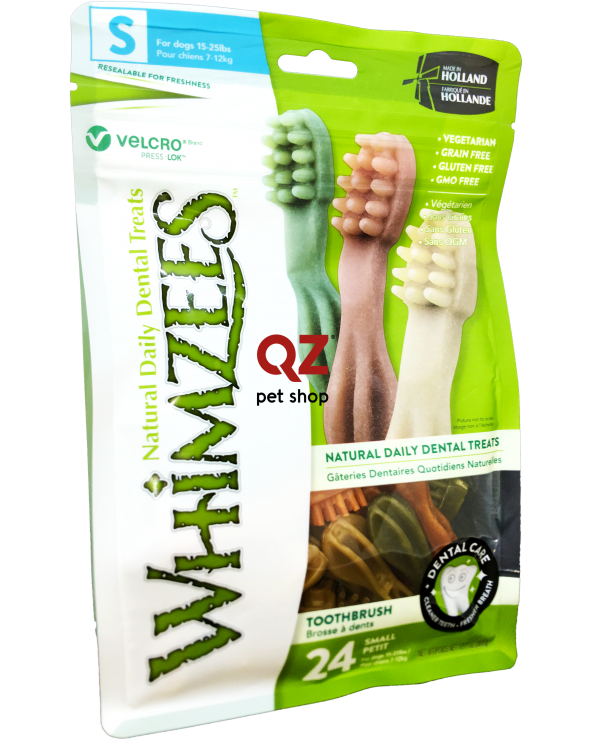 Whimzees Dental Snack Brushzees Spazzolino Small 24 Pz