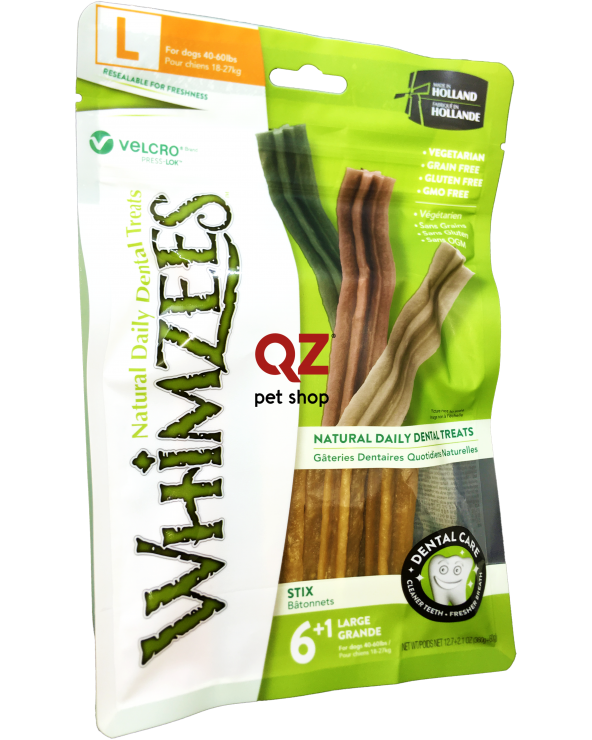 Whimzees Dental Snack Stix Large 6+1 Pz