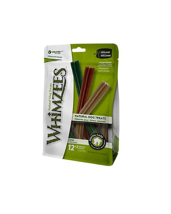 Whimzees Dental Snack Stix Medium 12+2 Pz