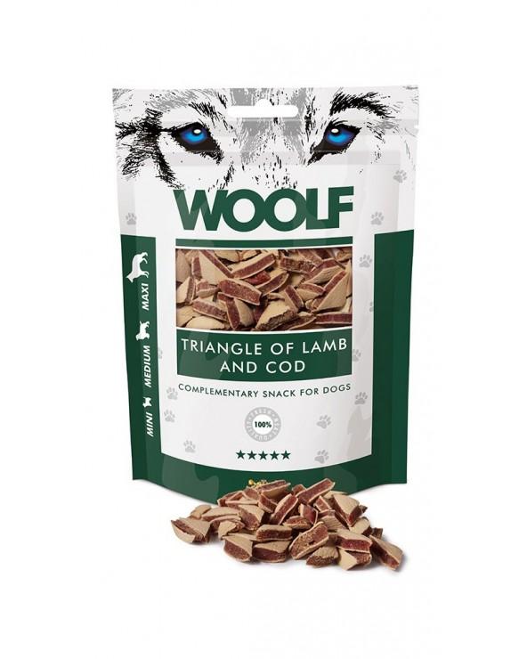 Woolf Snack Triangolini Di Agnello e Merluzzo 100 g