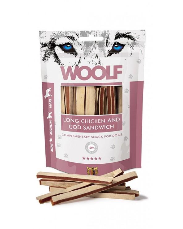 Woolf Snack Strisce Di Pollo E Merluzzo 100 g