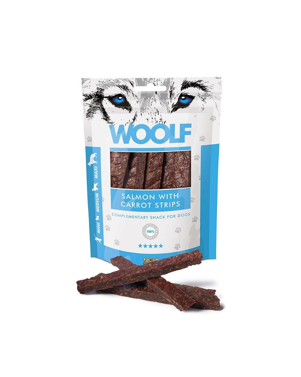 Woolf Snack Strisce Di Salmone E Carote