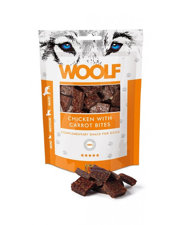 Woolf Snack Bocconcini Pollo E Carote 100 g