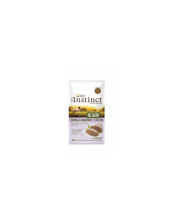 True Instinct Dog NO GRAIN Adult Mini Tacchino Pomodoro e Carote Busta in Patè 150 g
